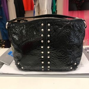 Michael Kors Distressed Patent Leather Pouch